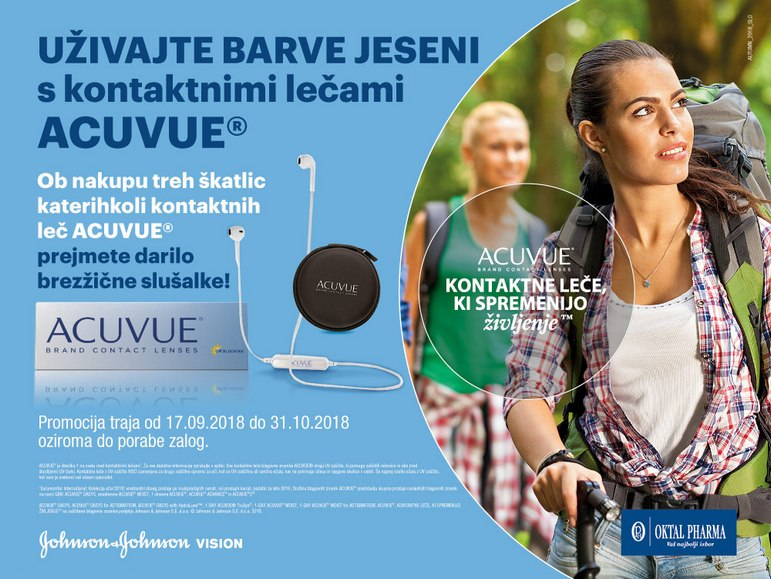 Akcija acuvue kontaktne leče, nakup in darilo